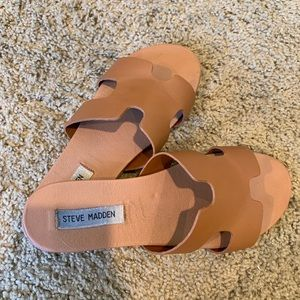 Steve madden tan leather sandals